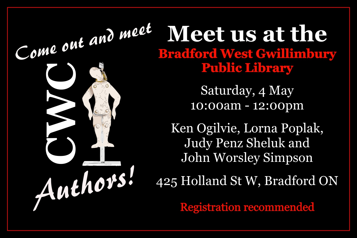 Crime Writers of Canada Author Appearance promotional graphic